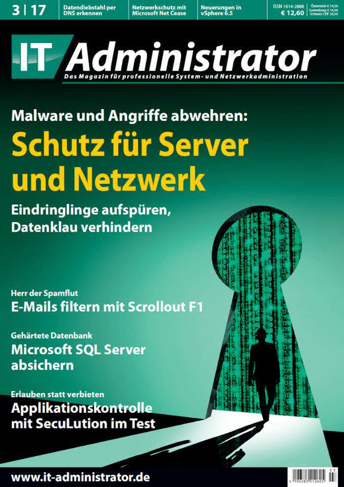 Titelblatt IT Administrator Magazin
